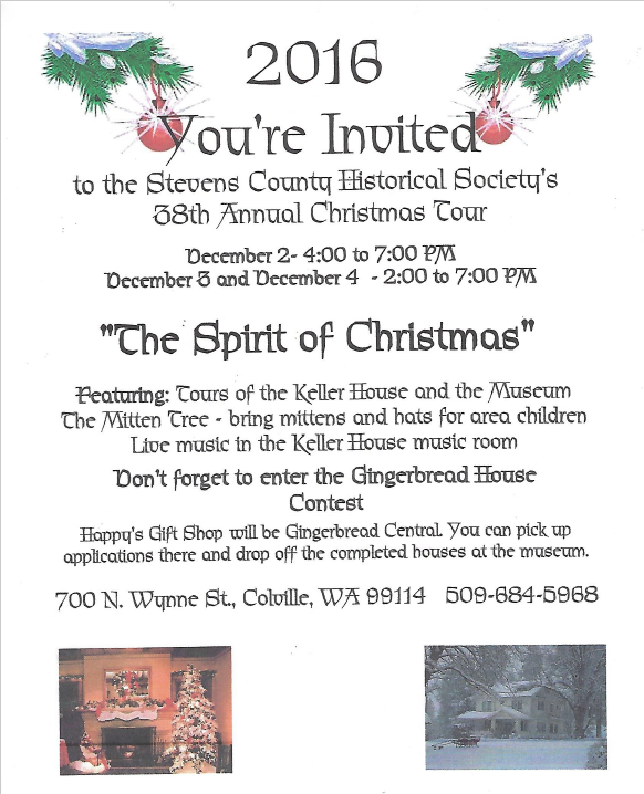 Stevens County Historical Society 38th annual Christmas Tour